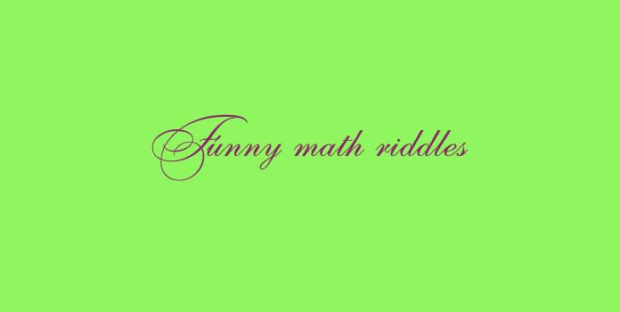 Funny math riddles